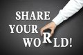Business share your world concept Royalty Free Stock Photo