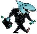 Business Shark Dark Suit