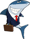 Business shark on a white background Stock Photo