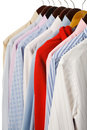 Business shirts & red soprt shirts Stock Images