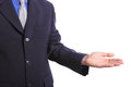 Business show somthing with emtry hand for you use or insert content clipping path Royalty Free Stock Photo