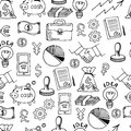 Business sketch vector seamless pattern .