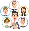 Business smartphone social network smile glasses