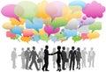 Obchod sociální média síť řeč bubliny