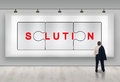 Business solutions advertisement Royalty Free Stock Photo