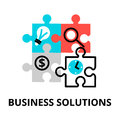 Business solutions icon, for graphic and web design Royalty Free Stock Photo