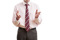 Business speech body language during isolated Stock Images