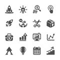 Business start up icon set, vector eps10 Royalty Free Stock Photo