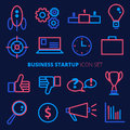 Business startup vector icon set. Banking and finance symbols in