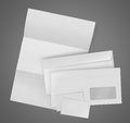 Business stationary set. envelope, sheet of paper and business c Royalty Free Stock Photo