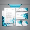 Business stationery template complete set of such as letterhead cards envelope cd cover etc Stock Photo