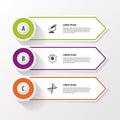 Business step options banner. Vector illustration. Infographics design template
