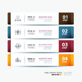 Business step paper and numbers design template data Royalty Free Stock Photo
