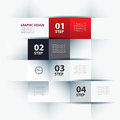 Business step paper and numbers design template lines Royalty Free Stock Images