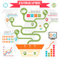 Business steps development infographics vector this is file of eps format Royalty Free Stock Photos