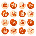 Business stickers Royalty Free Stock Photography
