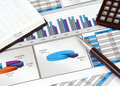 Business Still Life with Graphs Royalty Free Stock Photo