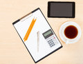 Business still life - top view of office accessory Royalty Free Stock Photo