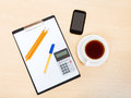 Business still life - top view of office tools Royalty Free Stock Photo
