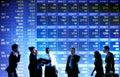 Business stock exchange trading concept Stock Photos