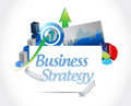 Business strategy concept sign illustration design over a white background Stock Images