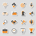 Business Strategy Icon Sticker Set Royalty Free Stock Photo