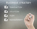 Business strategy lists Royalty Free Stock Photo
