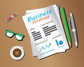 Business strategy objects strategic management involves the formulation and implementation of the major goals and initiatives Stock Images