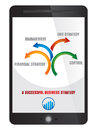 Business strategy on tablet screen abstract flow illustration Royalty Free Stock Photography
