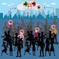 Business success concept,focus person along the crowd – Vecto