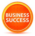 Business Success Natural Orange Round Button Royalty Free Stock Photo