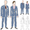 Business Suit Drawing Set Stock Photos