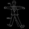 Business suit measurements an image of Royalty Free Stock Photography