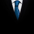 Business suit with a tie black Stock Images