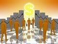 Business Sunshine Dollar Royalty Free Stock Photo