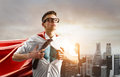 Business super hero Royalty Free Stock Photo