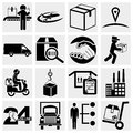 Business supply chain shipping shopping and ind industry icons set isolated on grey background eps file available Stock Photography