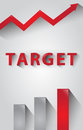 Business Target Marketing Concept Design Red