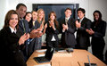 Business team applauding Stock Image