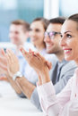 Business team applauding clapping in meeting Royalty Free Stock Photography