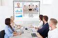 Business team attending video conference Royalty Free Stock Photo