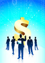 Business team background with Dollar sign Stock Image