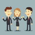 Business team cartoon people concept Royalty Free Stock Photography