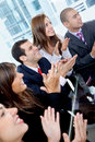 Business team clapping Stock Images