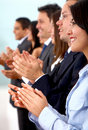 Business team clapping Stock Photography