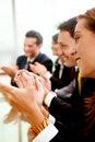 Business team clapping Royalty Free Stock Photo