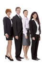 Business team diversity happy isolated Royalty Free Stock Images