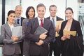 Business team with document and organizer Royalty Free Stock Photo