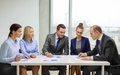 Business team with documents having discussion and office concept in office Royalty Free Stock Photo