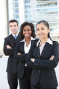 Business Team  (FOCUS ON MIDDLE WOMAN) Stock Photo